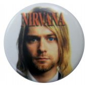 Nirvana - 'Kurt Head White' Button Badge